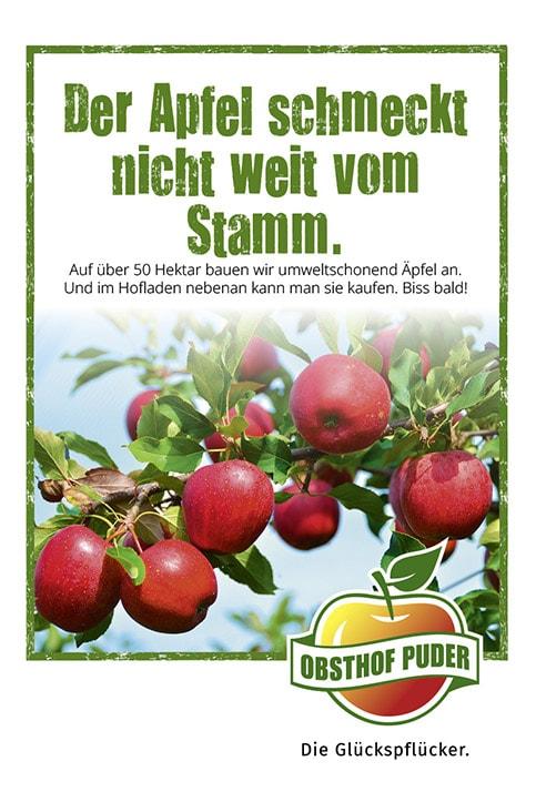 Werbung Regionale Äpfel