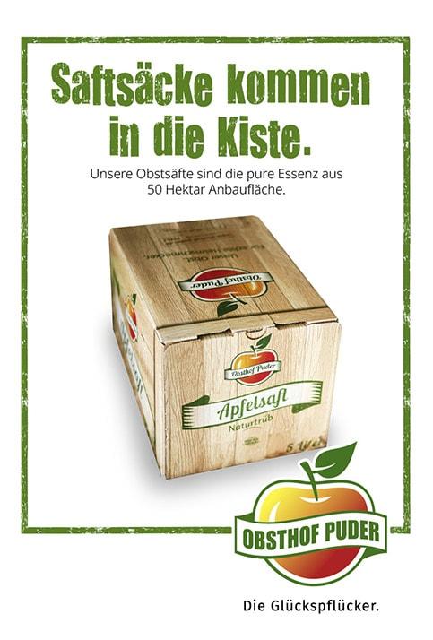 Werbung für Apfelsaft SK
